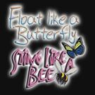 Float Like a Butterfly, Sting like a Bee; Muhammad Ali, Cassius Clay, on BLACK by TOM HILL - Designer