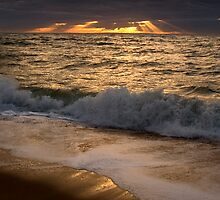 Sunset over Port Phillip Bay by John Barratt