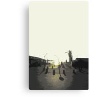 tel aviv sunset Canvas Print
