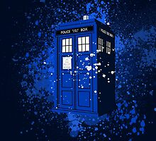 The splattered TARDIS by clynch9145