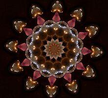 Hematite Hearts and Amethyst  by Sandra Chung
