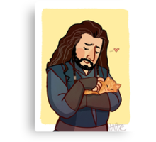 Thorin and Kitten Canvas Print