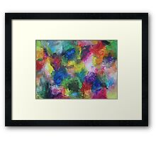 """In a Dream"" original abstract artwork by Laura Tozer Framed Print"
