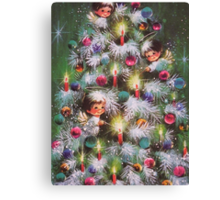 Vintage Christmas Card #4 Canvas Print