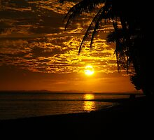 Sunset on Raro by Ozmoe