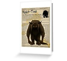 Practical Visitor's Guide to the Labyrinth - Night Troll Greeting Card