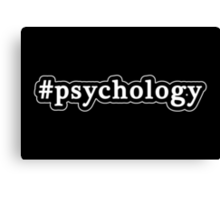 Psychology - Hashtag - Black & White Canvas Print
