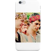 Newt and Thomas with Flowercrowns iPhone Case/Skin
