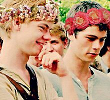 Newt and Thomas with Flowercrowns by TheBloodyMaze