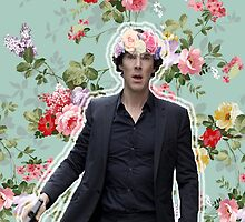 Flowercrowned Sherlock by thescudders