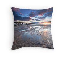 Semaphore Sunset Throw Pillow