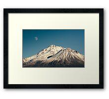 Moon over Shasta Framed Print