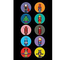 8Bit Marvel Characters Photographic Print