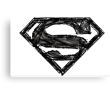 Superman Sketch Canvas Print