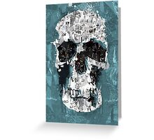 The Blue Skull of Baker Street Greeting Card
