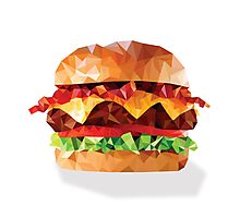 Geometric Bacon Cheeseburger Photographic Print