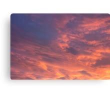 Cloudy Sky at Sunset Canvas Print