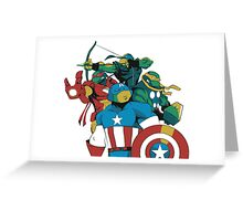 Turtles Avengers Greeting Card