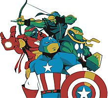 Turtles Avengers Photographic Print