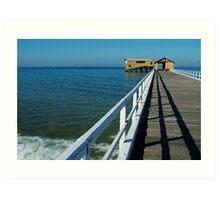 Sunny Day, Queenscliff Pier Art Print