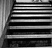 the girl at the top of the stairs by jim painter