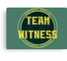 Team Witness. Canvas Print