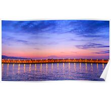 Malaga Pink and Blue Sunrise Poster