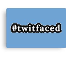 Twitfaced - Hashtag - Black & White Canvas Print