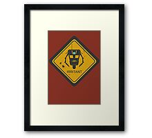 Caution: Irritant Framed Print