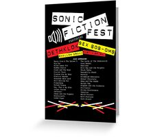Sonic Fiction Fest Greeting Card