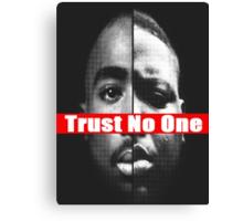 "Tupac and Biggie ""Trust No One"" Supreme Canvas Print"