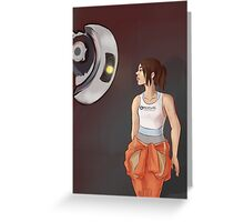 Chell and Glados Greeting Card