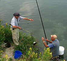 The fishermen of Ventimiglia by hans p olsen