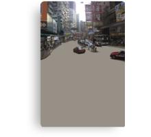 HK asphalt Canvas Print