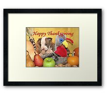 Thanksgiving (prints & cards w/words - all other items w/no words) Framed Print