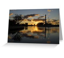 Burning Sunset at the Beaches Marina Greeting Card