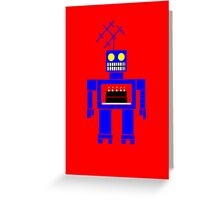 Birthday Cake Delivery Bot Card Greeting Card