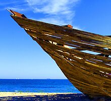 Wrecked  St Kilda Beach -Card   by Christine  Wilson Photography