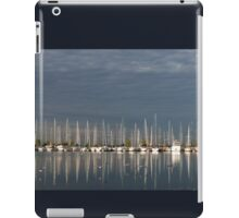 A Break in the Clouds - Gray Sky, White Yachts iPad Case/Skin