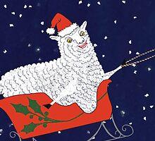 Santa Claus Sheep by SusanSanford