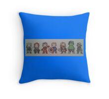 Biddy Avengers. Throw Pillow