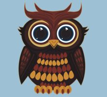 Friendly Owl - Blue Kids Clothes