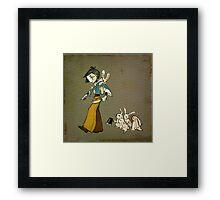 Kill Bunny - square Framed Print