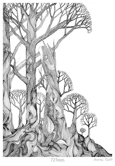 72Trees (Greeting Card) by Murray Swift