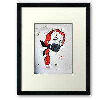 Bondage Girl Framed Print