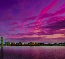 Sun dusk over Boston by LudaNayvelt