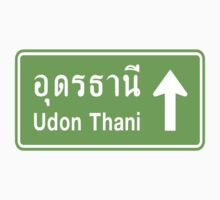 Udon Thani, Isaan, Thailand Ahead ⚠ Thai Traffic Sign ⚠ by iloveisaan