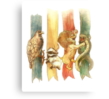 Hogwarts Houses Canvas Print