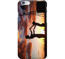 Silhouette Playing... Free State, South Africa  iPhone Case/Skin