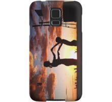 Silhouette Playing... Free State, South Africa  Samsung Galaxy Case/Skin